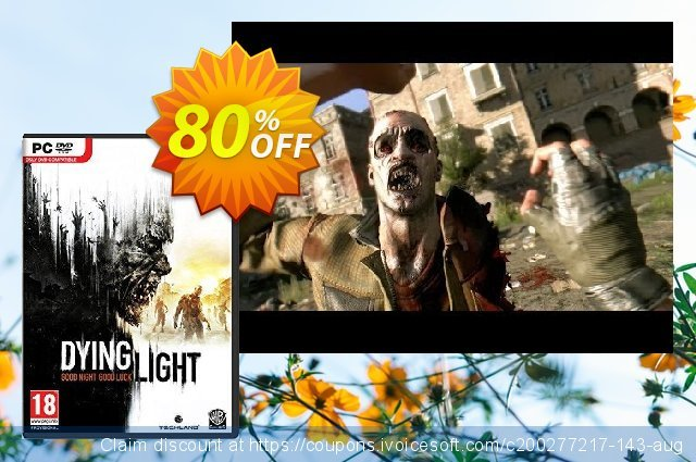 Dying Light PC discount 74% OFF, 2021 Mother's Day offering sales. Dying Light PC Deal