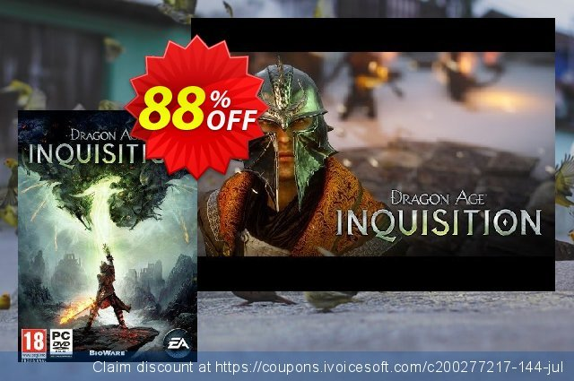 Dragon Age Inquisition PC discount 10% OFF, 2021 Mother Day offering sales. Dragon Age Inquisition PC Deal