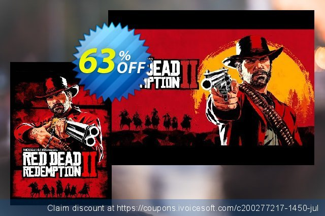 Red Dead Redemption 2 PC discount 43% OFF, 2020 College Student deals offering sales