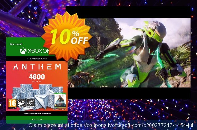 Anthem 4600 Shards Pack Xbox One discount 10% OFF, 2020 Back to School Promos offering sales