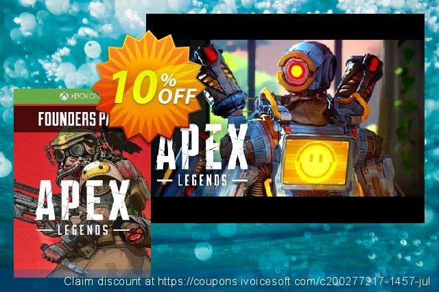 Apex Legends Founder's Pack Xbox One discount 46% OFF, 2020 Back to School event promotions