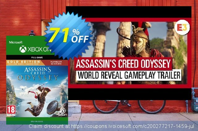 Assassin's Creed Odyssey : Gold Edition Xbox One discount 13% OFF, 2020 Happy New Year offering sales
