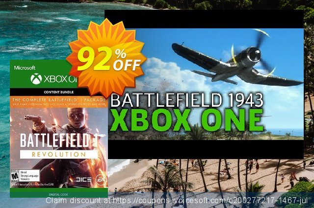 Battlefield 1 Revolution Inc. Battlefield 1943 Xbox One  서늘해요   촉진  스크린 샷