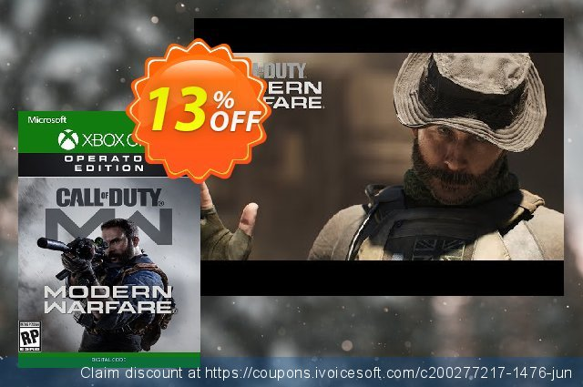 Call of Duty Modern Warfare Operator Edition Xbox One discount 13% OFF, 2020 Back to School promo sales