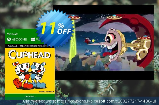Cuphead Xbox One/PC discount 10% OFF, 2020 Halloween offering sales