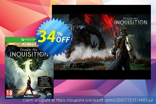 Dragon Age Inquisition: Game of the Year Xbox One - Digital Code discount 10% OFF, 2020 Back to School season promo sales