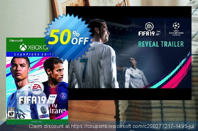 Fifa 19 Champions Edition Xbox One discount 16% OFF, 2020 Back to School Promos sales
