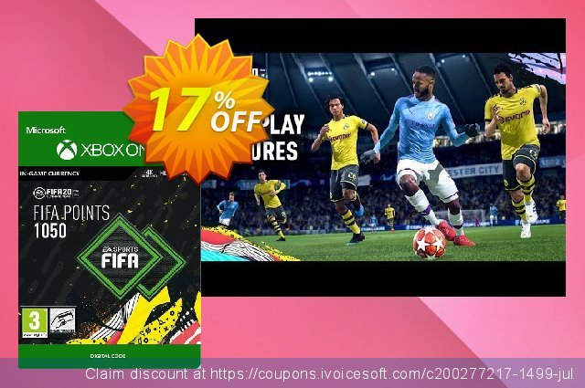 FIFA 20 - 1050 FUT Points Xbox One discount 11% OFF, 2020 Back-to-School promotions offering discount