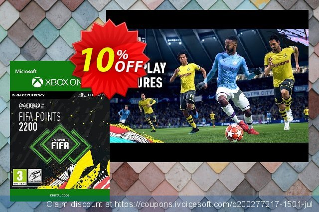 FIFA 20 - 2200 FUT Points Xbox One discount 10% OFF, 2020 Back to School shopping offering deals