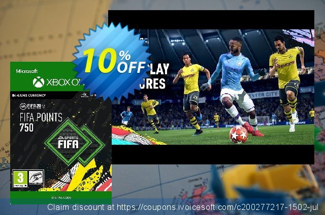 FIFA 20 - 750 FUT Points Xbox One discount 10% OFF, 2020 American Heart Month sales
