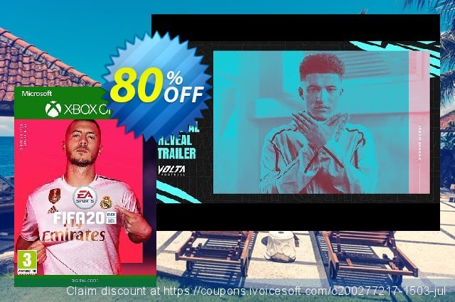 FIFA 20 Xbox One discount 33% OFF, 2020 Back to School coupons promo