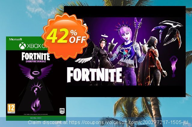 Fortnite: Darkfire Bundle Xbox One discount 10% OFF, 2020 Exclusive Student deals offering sales