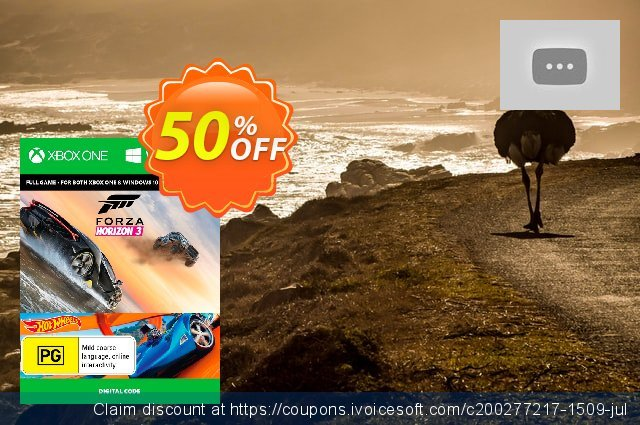 Forza Horizon 3 + Hot Wheels Xbox One/PC discount 50% OFF, 2020 Halloween offering sales