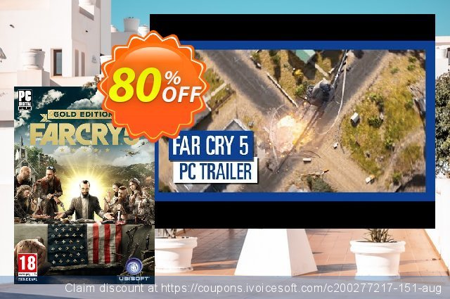 Far Cry 5 Gold Edition PC discount 80% OFF, 2021 Mother's Day sales. Far Cry 5 Gold Edition PC Deal