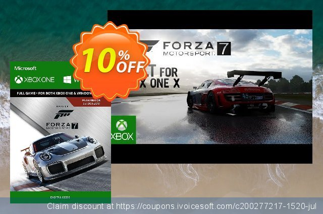 Forza Motorsport 7: Deluxe Edition Xbox One/PC discount 10% OFF, 2020 Back-to-School promotions offering deals