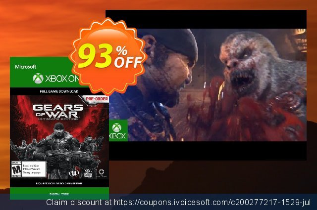 Gears of War: Ultimate Edition Xbox One - Digital Code 대단하다  매상  스크린 샷
