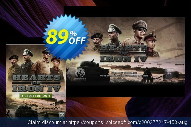 Hearts of Iron IV 4 Cadet Edition PC  위대하   할인  스크린 샷