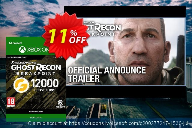 Ghost Recon Breakpoint: 12000 Ghost Coins Xbox One discount 11% OFF, 2020 Halloween discounts