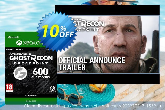 Ghost Recon Breakpoint: 600 Ghost Coins Xbox One discount 10% OFF, 2020 Teacher deals promotions