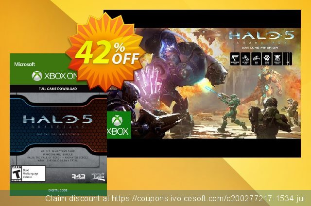 Halo 5 Guardians Digital Deluxe Edition Xbox One - Digital Code discount 40% OFF, 2020 Halloween offer