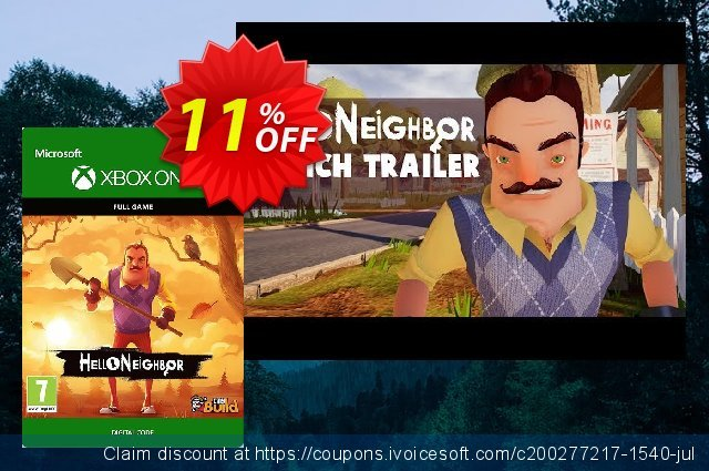 Hello Neighbor Xbox One/PC discount 11% OFF, 2020 Halloween promo