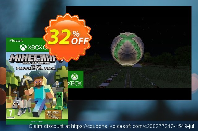Minecraft Favorites Pack Xbox One discount 40% OFF, 2020 Exclusive Student discount offering sales