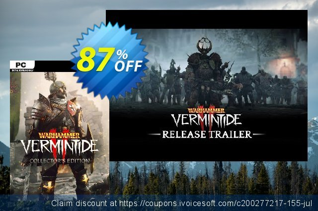 Warhammer Vermintide 2 - Collectors Edition discount 87% OFF, 2021 Mother's Day offering discount. Warhammer Vermintide 2 - Collectors Edition Deal