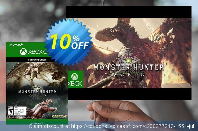 Monster Hunter: World - Deluxe Edition Xbox One discount 10% OFF, 2020 University Student offer promotions