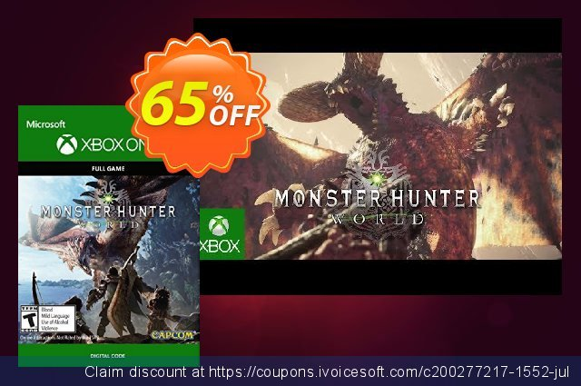Monster Hunter: World Xbox One discount 65% OFF, 2020 Halloween deals