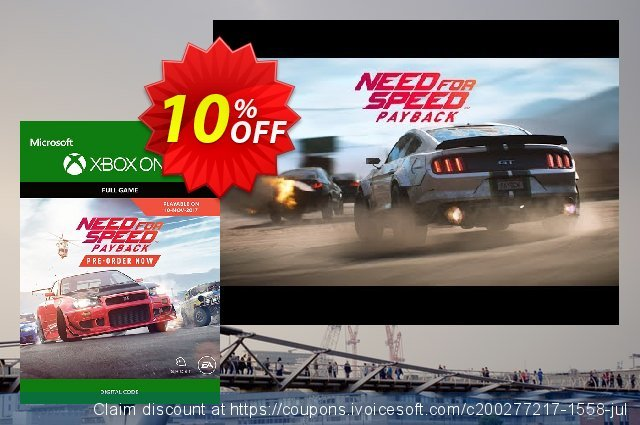 10 Off Need For Speed Payback Xbox One Coupon Code Aug 2020