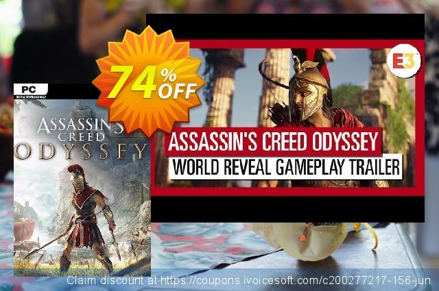 Assassins Creed Odyssey PC discount 72% OFF, 2021 Mother Day offering sales. Assassins Creed Odyssey PC Deal