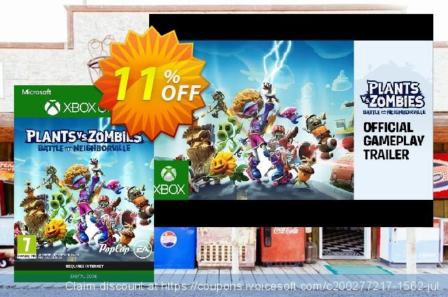 Plants Vs. Zombies: Battle for Neighborville Xbox One discount 11% OFF, 2020 Back-to-School promotions offering sales