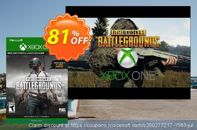 PlayerUnknown's Battlegrounds (PUBG) Xbox One discount 65% OFF, 2020 Back to School deals offering sales
