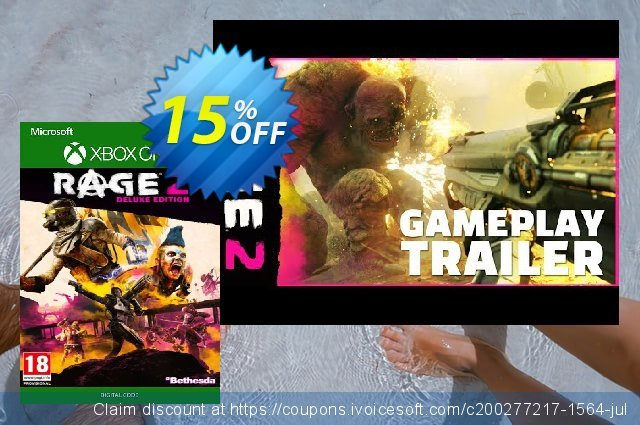 Rage 2 Deluxe Edition Xbox One discount 15% OFF, 2020 Back to School shopping offering sales