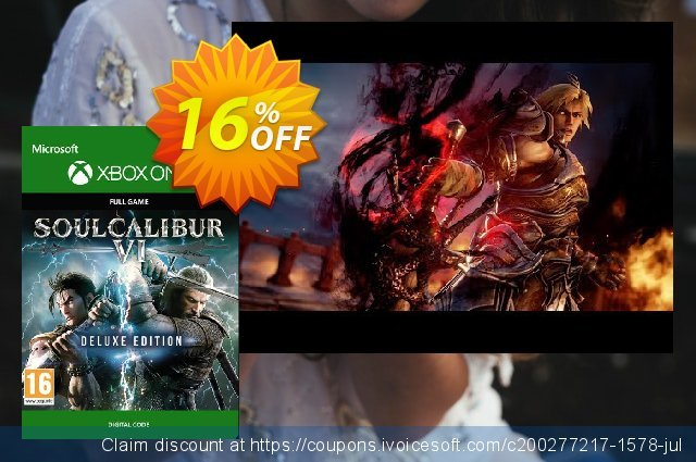 Soulcalibur VI 6 Deluxe Edition Xbox One discount 16% OFF, 2020 College Student deals promo sales