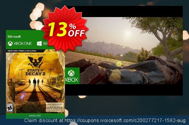 State of Decay 2 Ultimate Edition Xbox One/PC discount 13% OFF, 2020 Back to School event offering sales