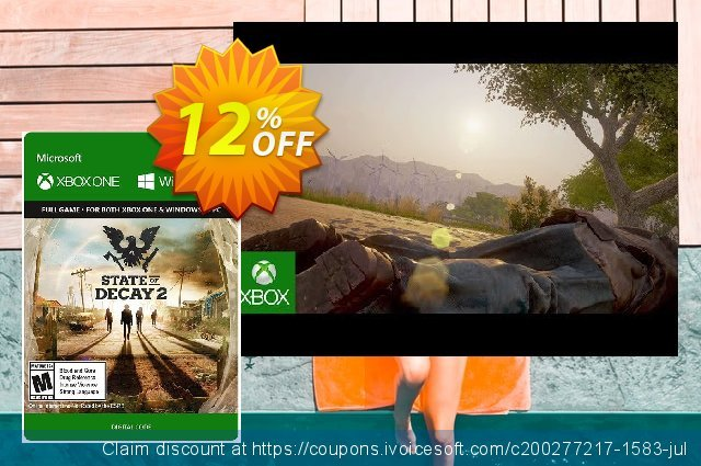State of Decay 2 Xbox One/PC discount 12% OFF, 2020 Halloween offering sales