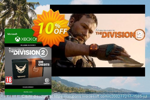 Tom Clancy's The Division 2 500 Credits Xbox One discount 10% OFF, 2020 Halloween offering sales