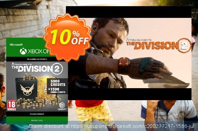 Tom Clancy's The Division 2 6500 Credits Xbox One discount 10% OFF, 2020 Back to School offer offering sales