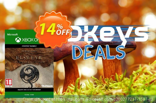 The Elder Scrolls Online: Elsweyr Collectors Edition Xbox One discount 14% OFF, 2020 Back to School coupons offering sales