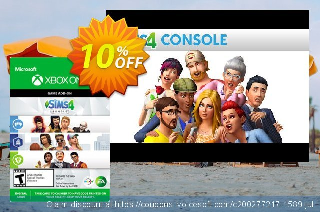 The Sims 4 - Extra Content Starter Bundle Xbox One discount 10% OFF, 2020 Exclusive Student deals promotions