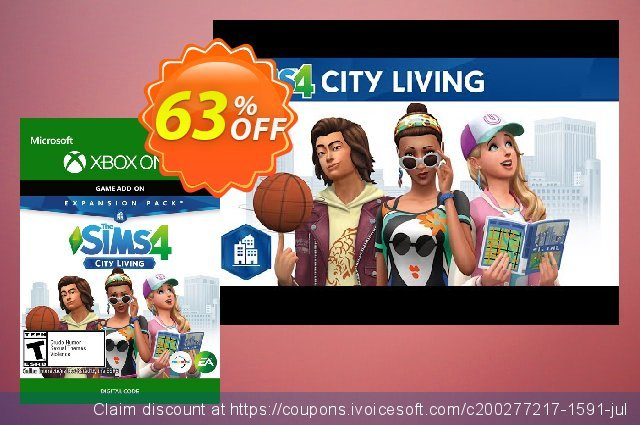The Sims 4 - City Living Expansion Pack Xbox One discount 20% OFF, 2020 Exclusive Student discount deals