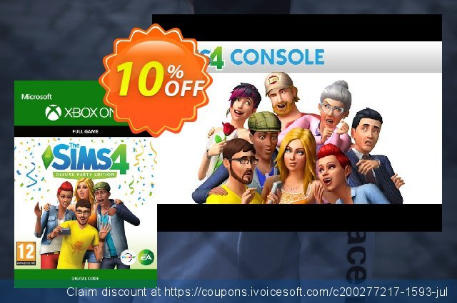 The Sims 4 - Deluxe Party Edition Xbox One discount 10% OFF, 2020 University Student offer discount