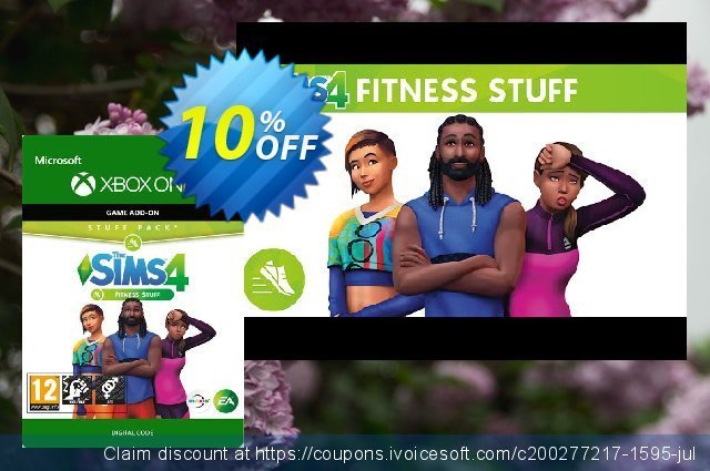 The Sims 4 - Fitness Stuff Xbox One discount 10% OFF, 2020 Teacher deals offering sales