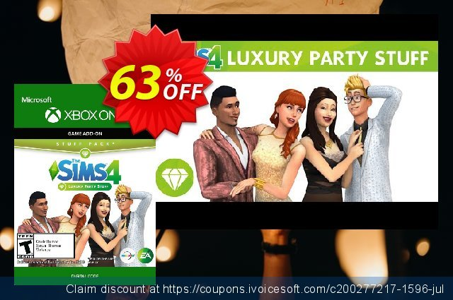 The Sims 4 - Luxury Party Stuff Xbox One discount 44% OFF, 2020 College Student deals offering deals