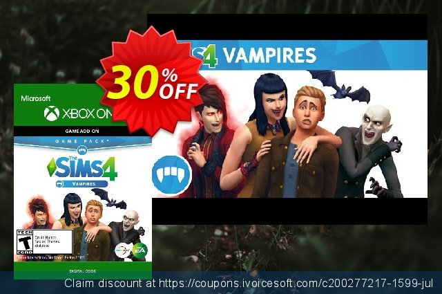 The Sims 4 - Vampires Game Pack Xbox One discount 28% OFF, 2020 College Student deals offering sales