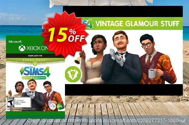 The Sims 4 - Vintage Glamour Stuff Xbox One discount 15% OFF, 2020 Halloween offering sales
