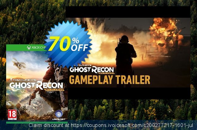 Tom Clancys Ghost Recon Wildlands Xbox One discount 25% OFF, 2020 Back to School promotion offering sales