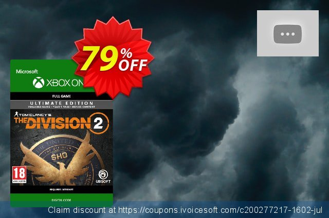 Tom Clancy's The Division 2 Ultimate Edition Xbox One discount 10% OFF, 2020 Back to School promo offering sales