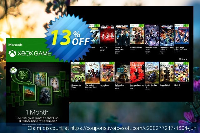 1 Month Xbox Game Pass Xbox One discount 63% OFF, 2020 Back-to-School promotions offering sales